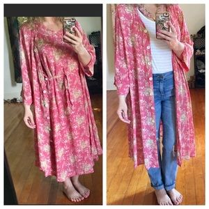April Cornell April Too! Vintage 3 Piece Kimono